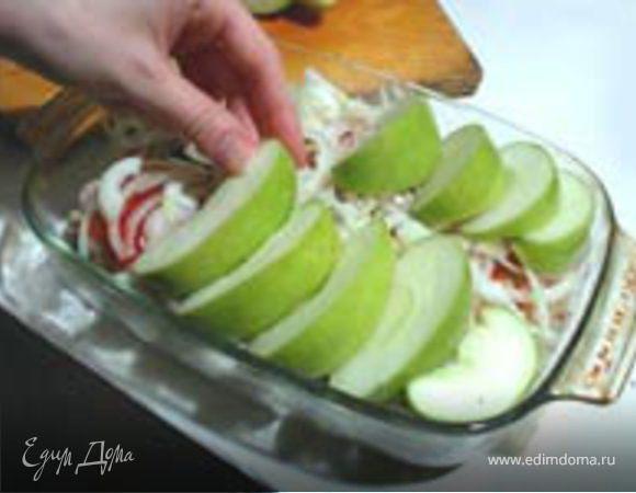 Запеченные яблочки с курочкой