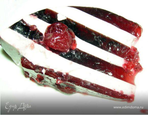 Желейный вишневый торт