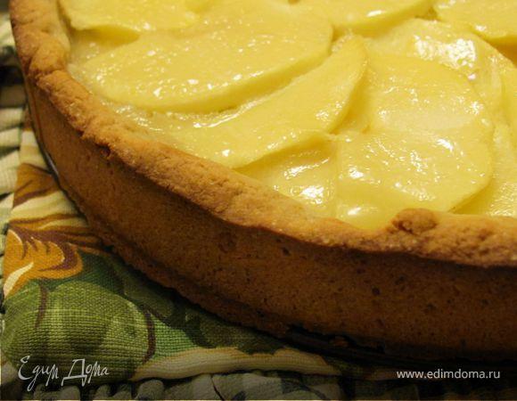 Яблочно - овсяный пирог с кремом