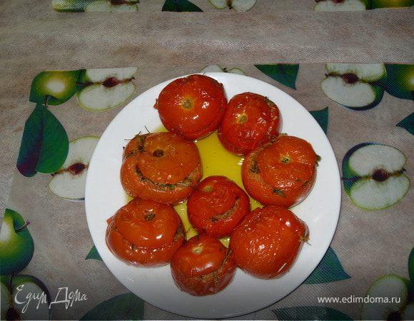 фаршированные помидоры на скорую руку