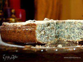 Пирог с маком, изюмом и грецкими орехами