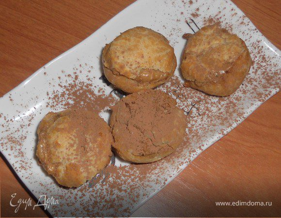 Профитроли с кофейно-шоколадным маскарпоне