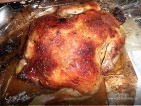 Курица фаршированная киви