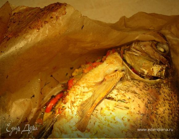 Запеченный лещ с рисом и имбирем