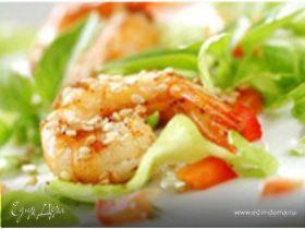 Салат коктейль из морепродуктов
