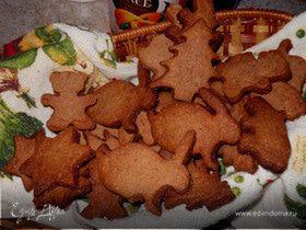 Песочное печенье с шоколадом и ликёром