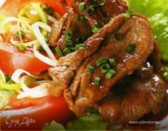 Свинина с овощами в имбирном маринаде
