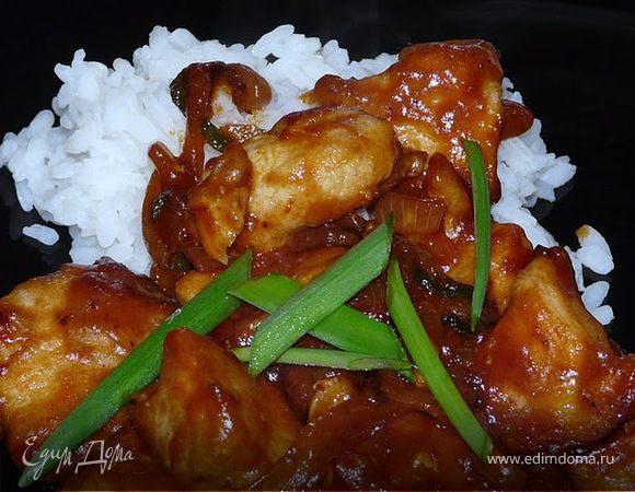 Куриное мясо по-монгольски