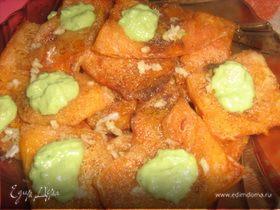 Шницель необыкновенный под авокадовым соусом