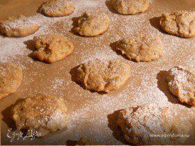 Печенье с хурмой и грецкими орехами