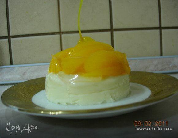 Мини - чизкейк с персиками