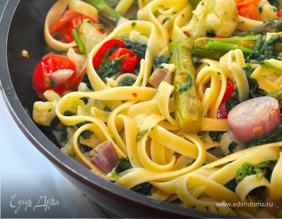 Феттучине с овощами (Primi Piatti con Verdura)