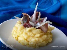 Картофельные гнезда с начинками