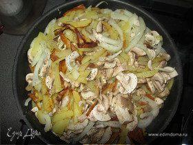 Жаренная картошечка с грибами