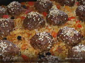 Рисовая запеканка с мясными шариками
