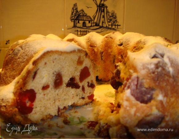 Кекс с ягодами, цукатами и всякими пряностями!