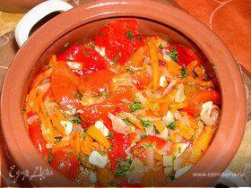 Маринованный салат из сладкого перца