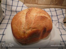 итальянский хлеб на кислом молоке с травами