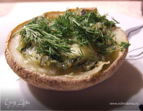 Фаршированный картофель в мундире