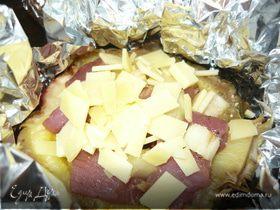 Ананасовые мясные горшочки