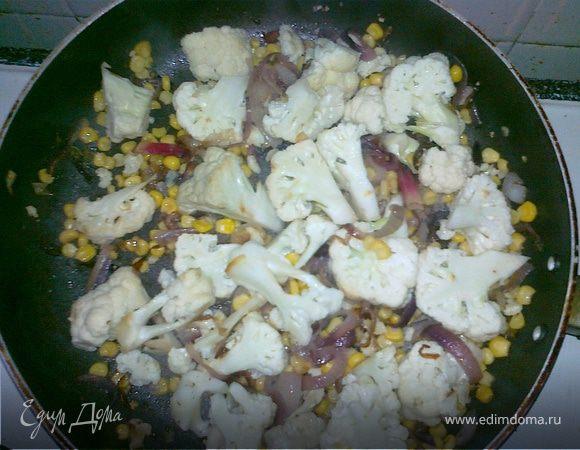 Кукуруза с цветной капустой и мятой(Balti Corn with Cauliflower & Mint)