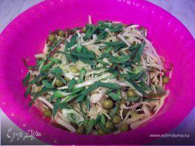 Салатик простой из капустки наземной и капустки морской