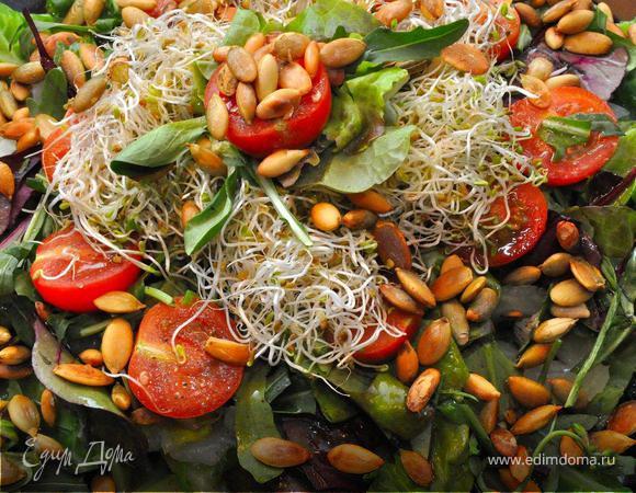 Итальянский салат из зеленых овощей. (Постные дни)