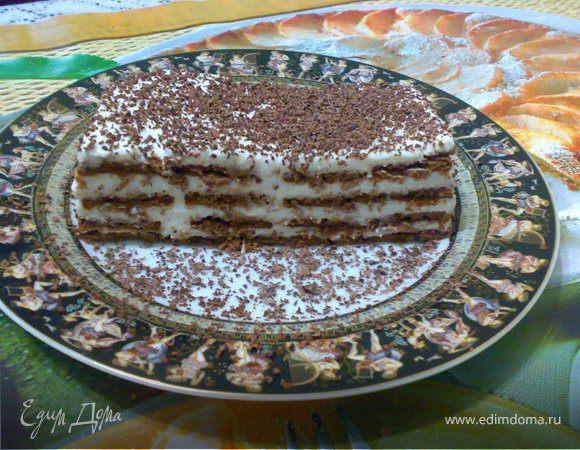 Торт суфле с печеньем