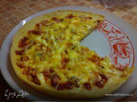Пицца, испеченная на сковороде
