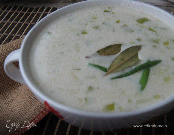 Ирландский геркулесовый суп с луком-пореем