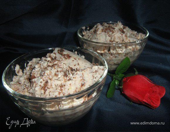 Имбирно-шоколадное мороженое из йогурта