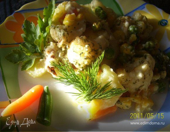 Овощная запеканка (рагу) в сырном соусе