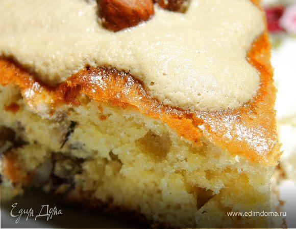 Фундучный пирог с кофейно-карамельной ноткой