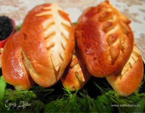 Постные пирожки с грибами.