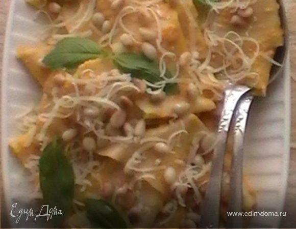 Домашняя паста с тыквенным соусом