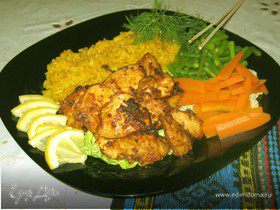 Куриное филе по-корейски.
