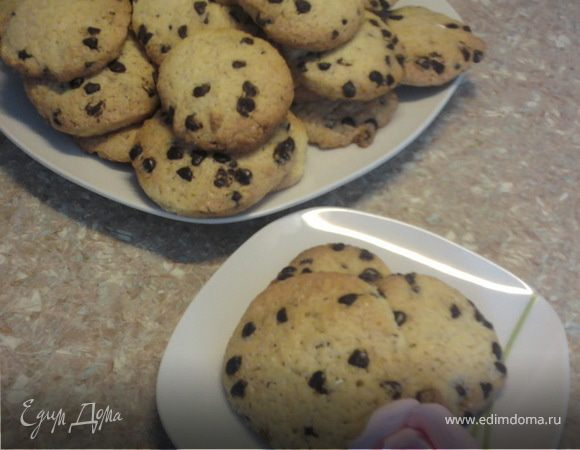 Печенье в шоколадных каплях.