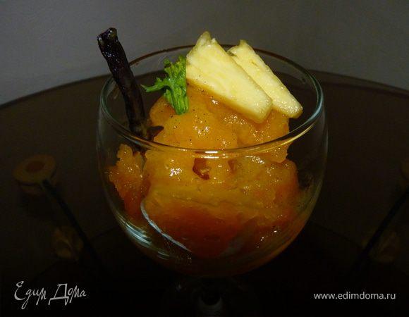 Манговый сорбет с ананасами