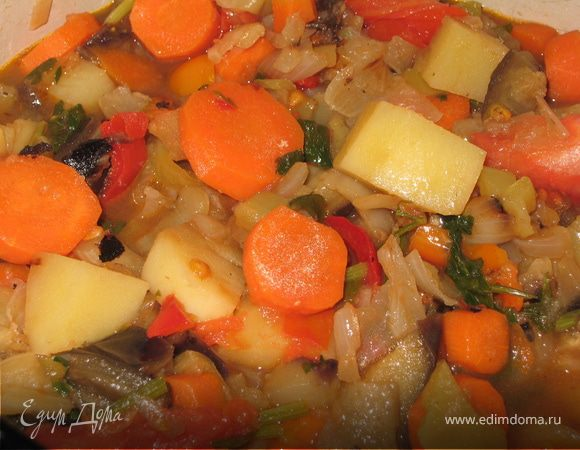 Раззадоренные овощи (постное рагу)