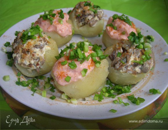 Картофель с двумя начинками