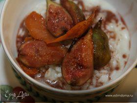 Рисовая каша со свежим инжиром и пряностями
