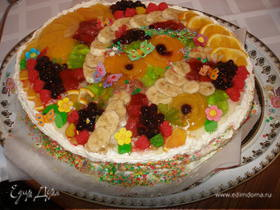 """Торт """"Фруктовый сюрприз"""""""