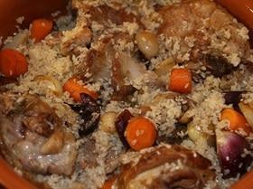 Томленая баранина с луком, чесноком и рисом