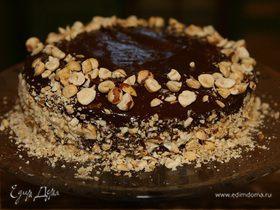Шоколадный новогодний торт из Пьемонта