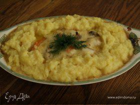 Рыбный пирог с креветками
