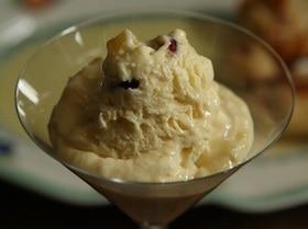 Мороженое с вялеными фруктами