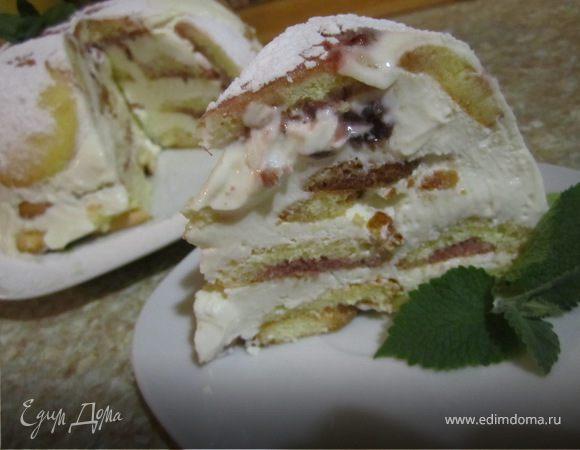 Бистрый творожно-сметанный тортик.