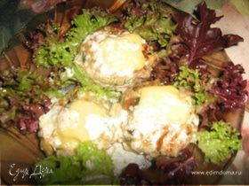 Тефтели со шпинатом под йогуртно-сливочным соусом