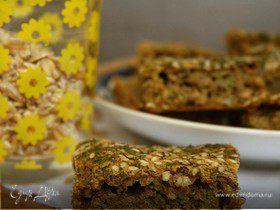 Ржано-овсяный чесночный хлеб