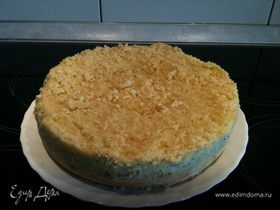 Пирог со штрейзелем с маком и изюмом